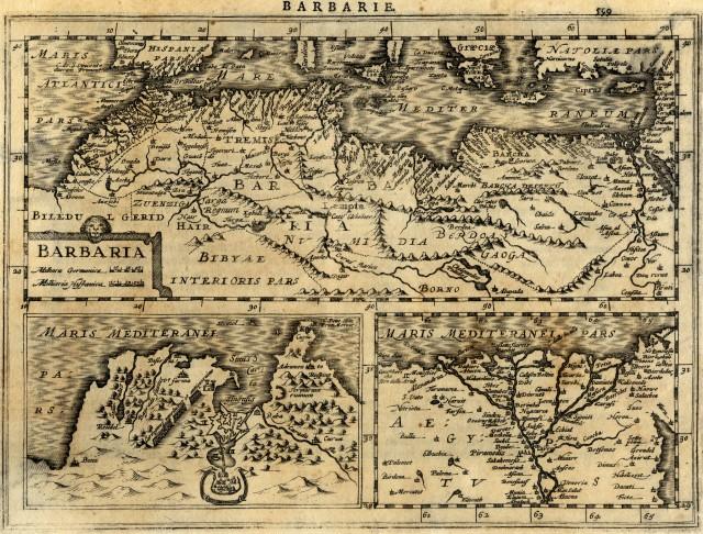 carte ancienne / old map - Barbarie (Maroc, Algeria, Tunisie, Lybia) - Mercator - 1630